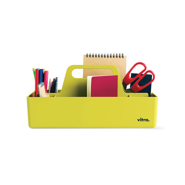 Lime green office toolbox