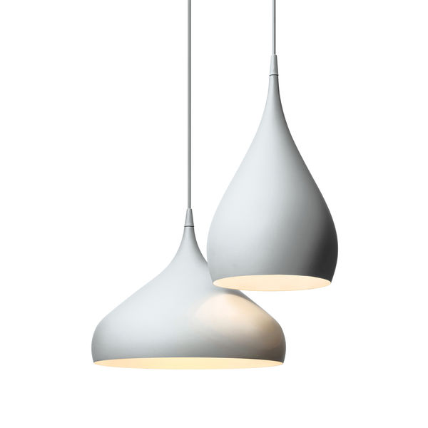 White sleek pendant lights