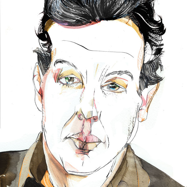 Hand drawn portrait of Christopher Farr.