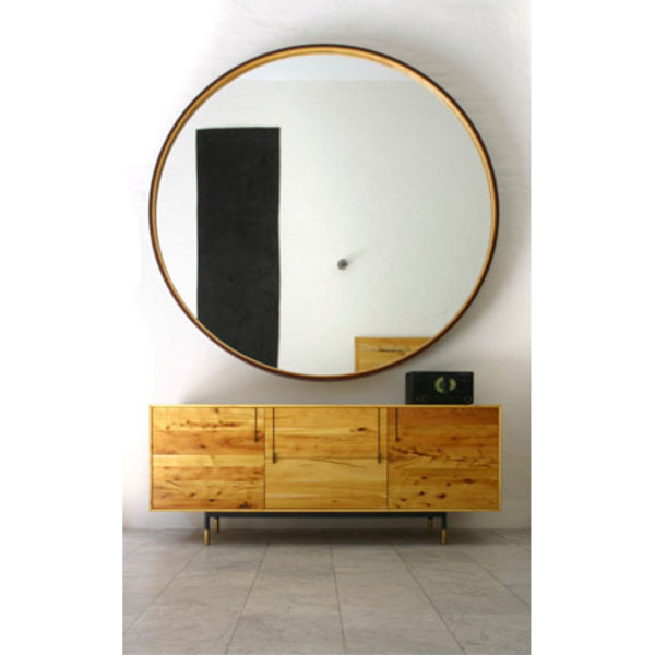 leather mirror product design