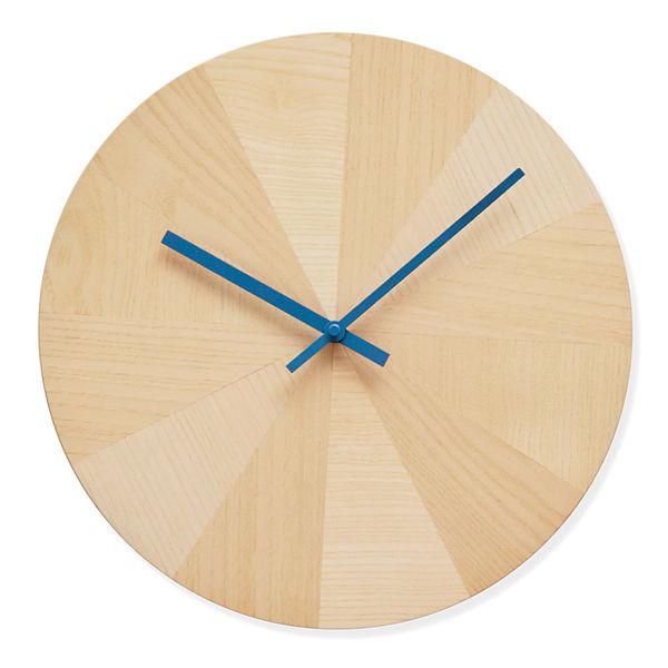 Modern wooden wall clock.