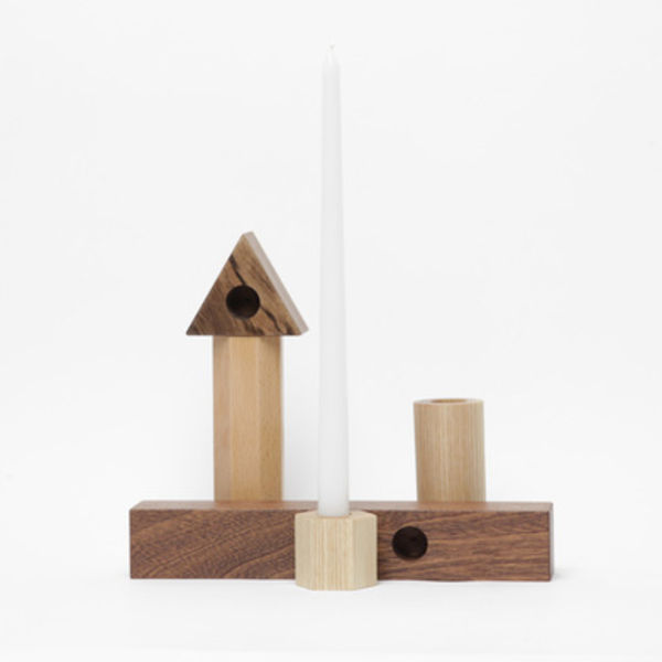 fort makers geometric candle stick