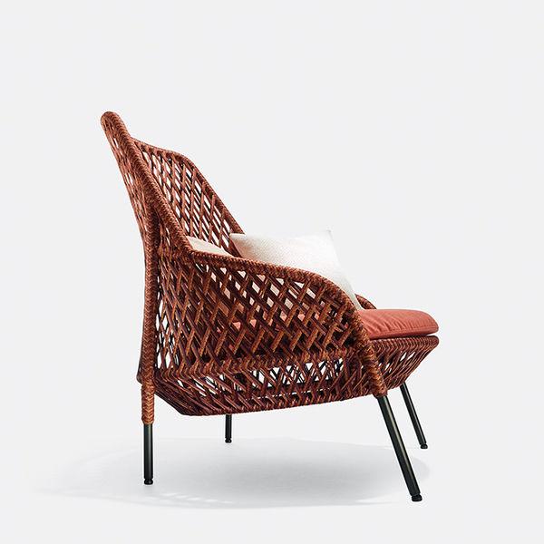 modern furniture design earth tones dedon ahnda chair stephen burks
