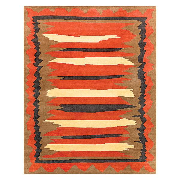 modern furniture design earth tones new moon rug