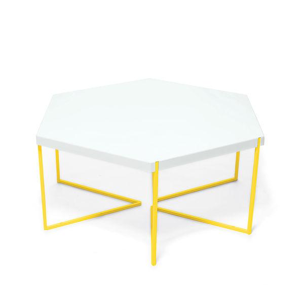 hex coffee table nine6 steel hexagon