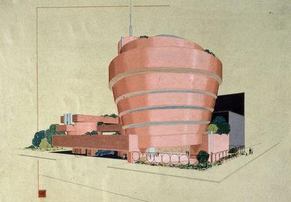 guggenheim frank lloyd wright pink