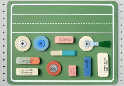 present cor stationery desktop erasers
