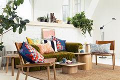 marimekko ss15 velvet sofa patterned pillows