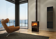Norwegian wood-burning iron stove designed by Torbjørn Anderssen and Espen Voll.