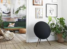 Sculptural furniture-inspired sound system