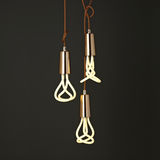 Copper pendant with Plumen 001 bulb