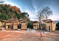 Soe Ker Tie houses in Thailand-Burma