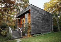 Long Island renovated beach house with cypress wood exterior