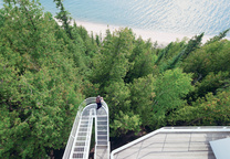 Outdoor staricase of The Douglas House by Richard Meier