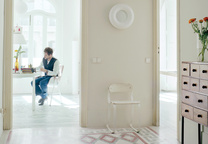Valencia, Spain, living room of Spanish industrial designer Jaime Hayon