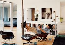 beck house living room portrait