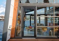 modern floating home with cedar cladding in seattle washington