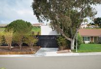 Modern house with a charred cedar façade in Southern California