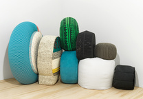 Modern pouffes for the home