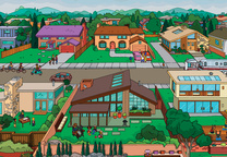 the simpsons meet dwell town