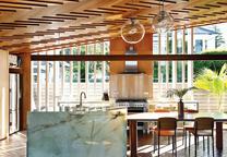 wood home kitchen