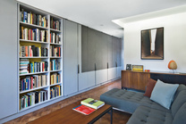crown heights apartment living room