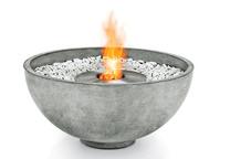 circular concrete fire pit that runs on bioethanol