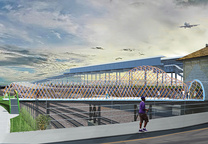 Bronx River revitalization project over Amtrak tracks