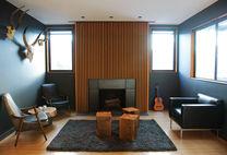 rugged good looks living room fireplace 1