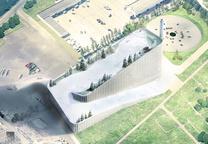 modern energy amager bakke plant copenhagen ski slope roof