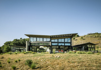 modern ecoconscious pavilion walkway roof