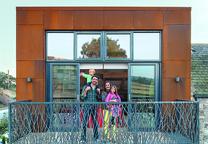 modern renovation addition solar powered scotland facade steel balcony