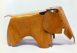 Molded plywood Eames elephant in LACMA's Living in a Modern way exhibition