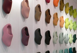 colour makes me happy clog wall