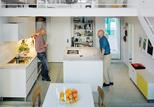 the town house kitchen living portrait