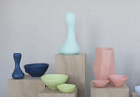 Pastel colored vases by Dinosaur Designs