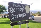 borrego springs welcome sign