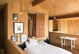 popadich residence plywood mezzanine bedroom