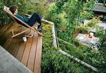 hillside haven outdoor landscaping easy chair terrace ipe wood deck
