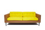 Bright yellow sofa