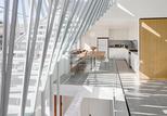 dual house metal staricase kitchen