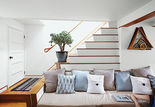 boston pops renovation small space living room stairs sofa