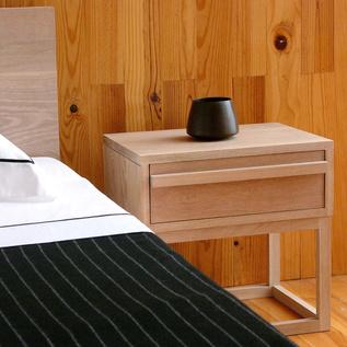 """<b>012 Bedside Table</b> by <a href=""""http://www.delaespada.com"""">De La Espada</a>, $995"""