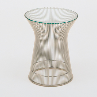 """<b>Platner Side Table</b> by Warren Platner for <a href=""""http://www.knoll.com"""">Knoll</a>, $930 for metallic bronze base with bronze glass top"""