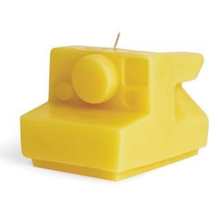 Polaroid beeswax candle