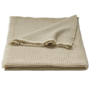 cashmere waffle weave throw blanket by Bryce & Co.