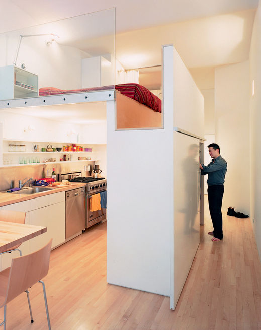 Puzzle loft kitchen view hallway 0