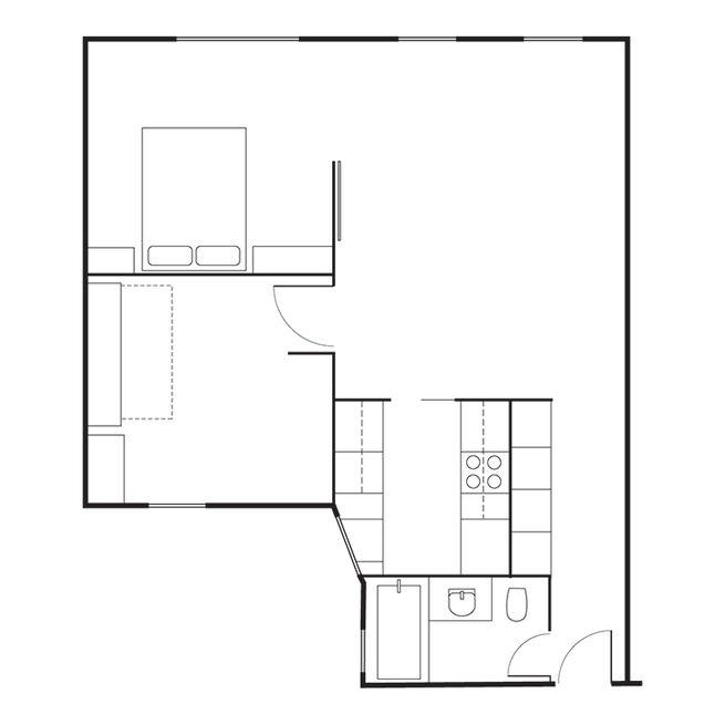 Schmidt-Friedlander Residence Floor Plan A Entry B Bathroom C Kitchen D Living Area E Kids' Room F Master Bedroom
