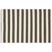 modern charcoal grey trimaran striped rug by dash and albert rug company