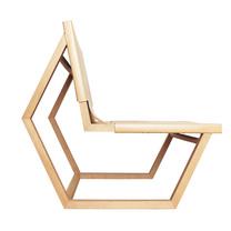 Modern wooden rocking chair.